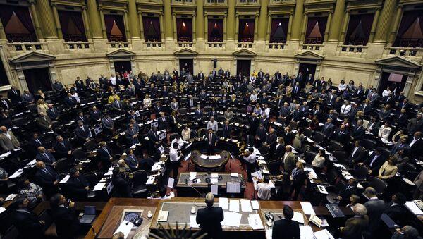 La vista general de la Cámara de Diputados de Argentina - Sputnik Mundo