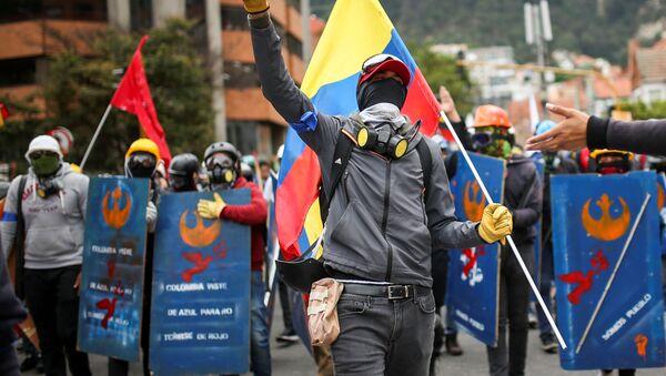 Protestas anti-gubernamentales en Bogotá - Sputnik Mundo