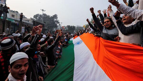 Protestas en la India - Sputnik Mundo