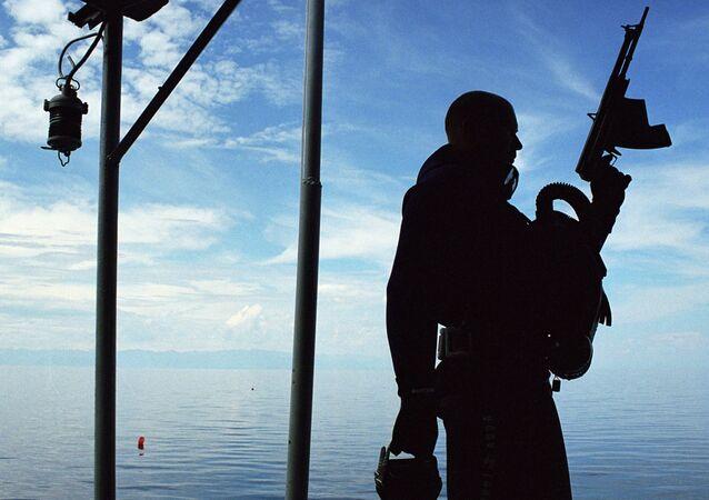Un submarinista militar ruso, foto archivo