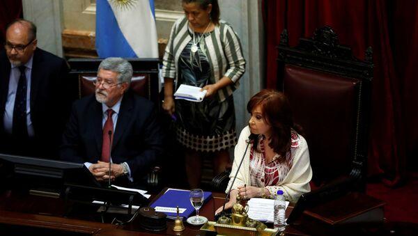 Cristina Fernández, vicepresidenta de Argentina, durante el debate sobre la Ley de Emergencia - Sputnik Mundo