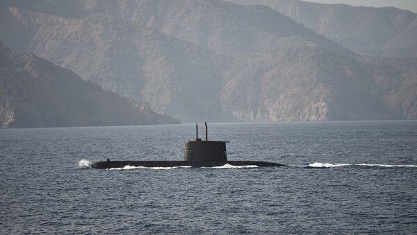 Un submarino turco (archivo) - Sputnik Mundo