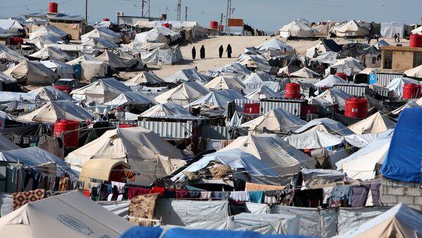 Un campo de refugiados sirios (archivo) - Sputnik Mundo
