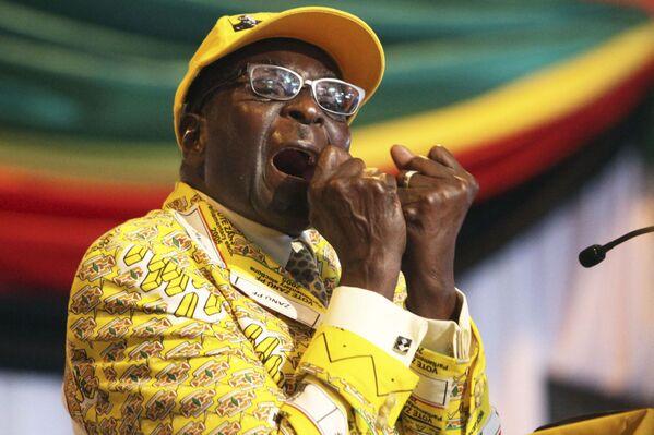 Robert Gabriel Mugabe, presidente de Zimbabue - Sputnik Mundo