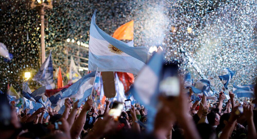 Los argentinos festejan la asunción de Alberto Fernández