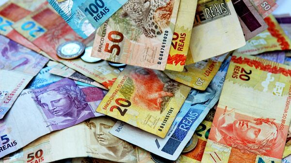 Billetes y monedas de real, la moneda brasileña - Sputnik Mundo