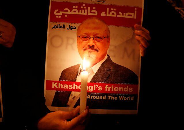 Un retrato del periodista saudí Jamal Khashoggi