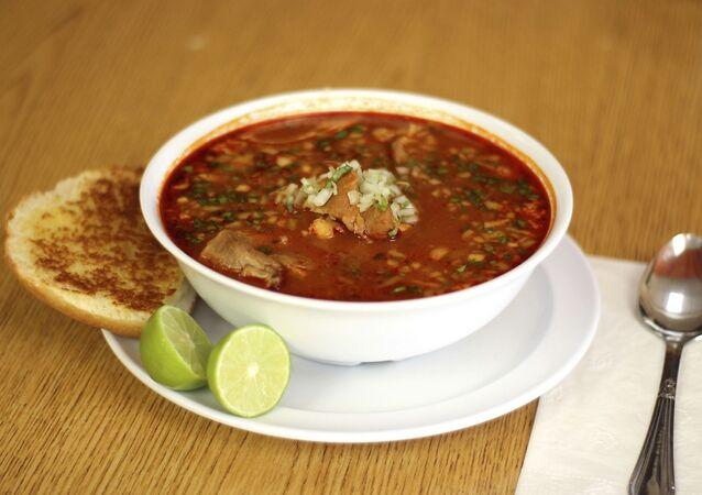 Comida mexicana con achiote
