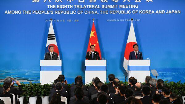 La cumbre tripartita de Corea del Sur, China y Japón - Sputnik Mundo