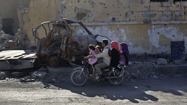 La vida cotidiana en Al Raqa, Siria - Sputnik Mundo