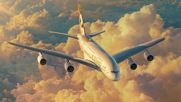 Un A380 de Etihad Airways - Sputnik Mundo