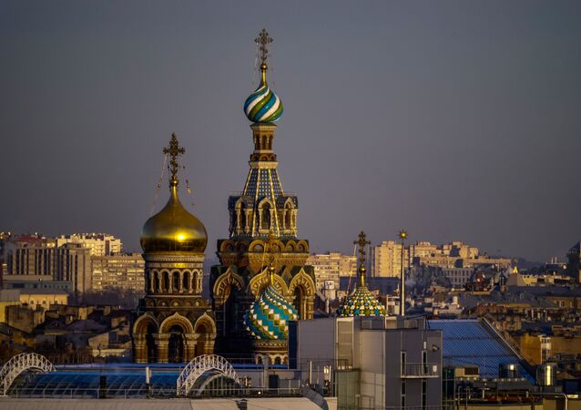 La ciudad rusa de San Petersburgo