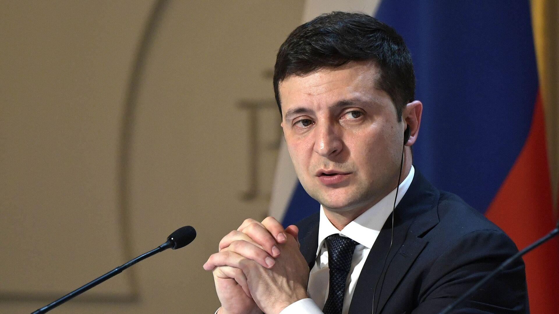 Volodímir Zelenski, presidente de Ucrania  - Sputnik Mundo, 1920, 06.04.2021