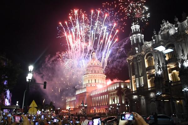 Fuegos artificiales en conmemoración del 500 aniversario de La Habana (Cuba), el 16 de noviembre de 2019 - Sputnik Mundo