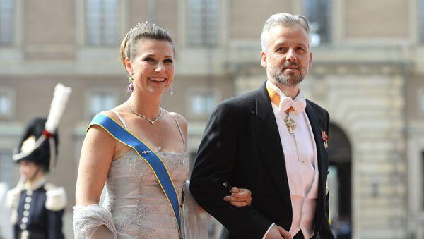 Ari Behn junto a la princesa Marta Luisa - Sputnik Mundo