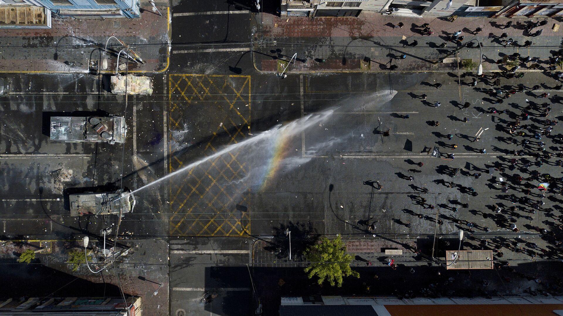 Protestas antigubernamentales en Chile, el 26 de octubre de 2019 - Sputnik Mundo, 1920, 28.07.2021
