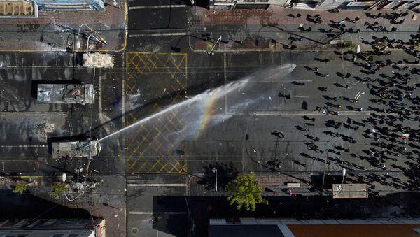 Protestas antigubernamentales en Chile - Sputnik Mundo