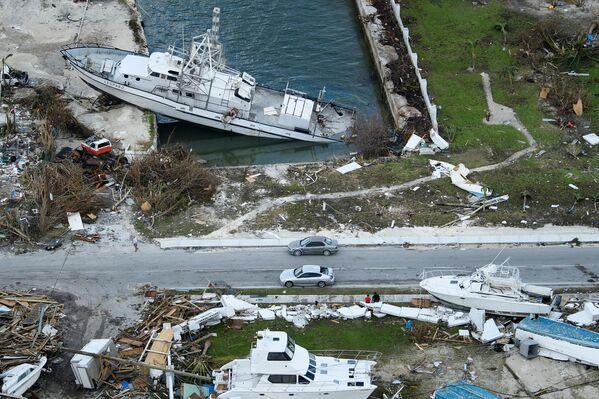 Consecuencia del paso del devastador huracán de 5ª categoría Dorian en las Bahamas, el 5 de septiembre de 2019 - Sputnik Mundo