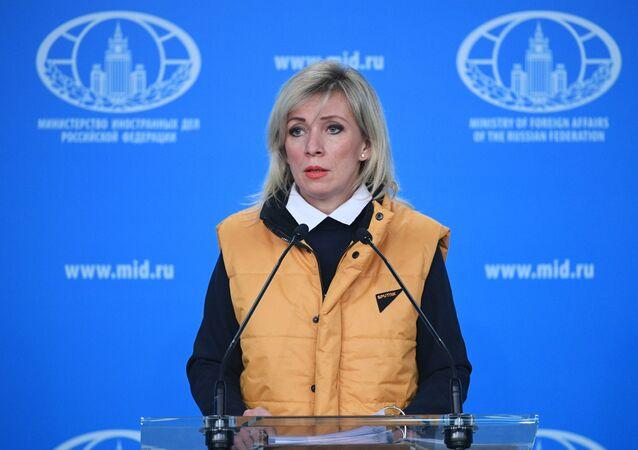 La portavoz de la Cancillería de Rusia, María Zajárova