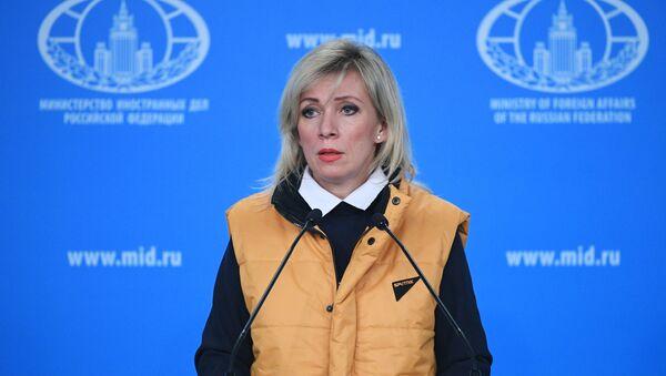 La portavoz de la Cancillería de Rusia, María Zajárova - Sputnik Mundo