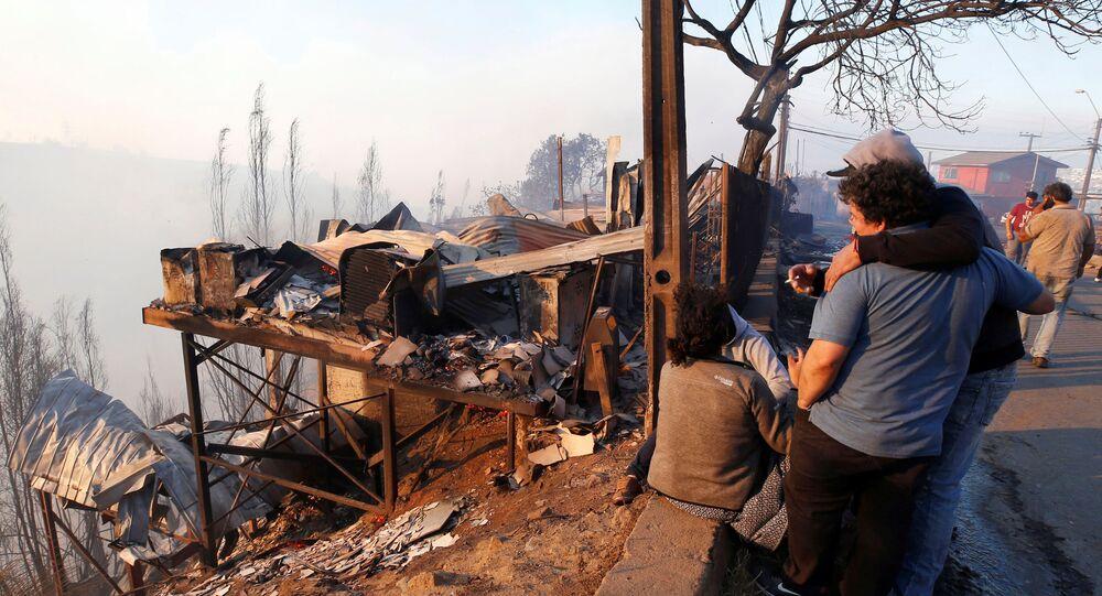 Consecuencias de incendios forestales en Valparaíso, Chile