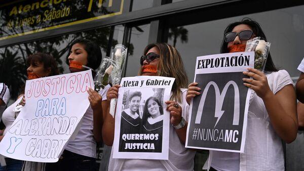 Protestas contra McDonald's en Perú  - Sputnik Mundo