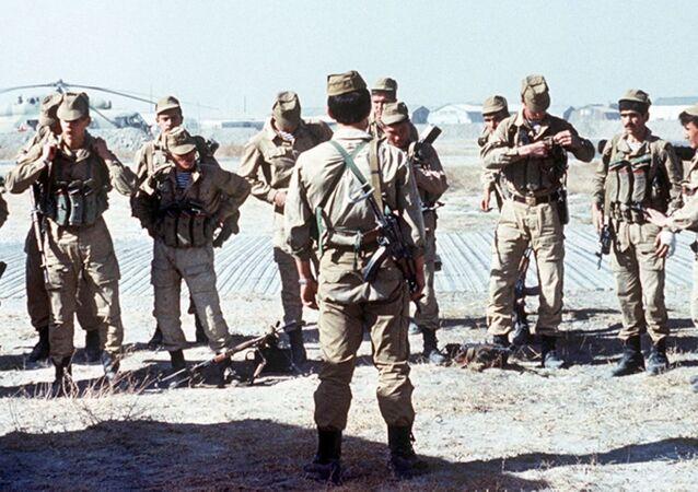 Unidad especial soviética en Afganistán (imagen referencial)