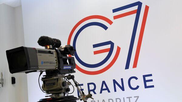 El logo de la cumbre del G7 en Francia (archivo) - Sputnik Mundo
