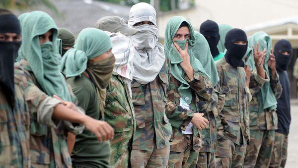 Miembros de la banda paramilitar colombiana Los Rastrojos - Sputnik Mundo