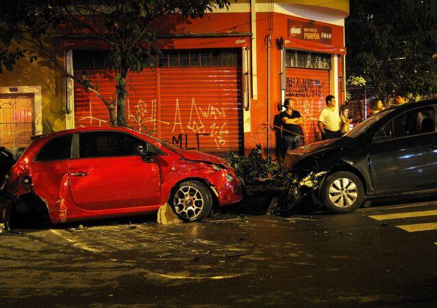 Un accidente de tráfico, imagen referencial