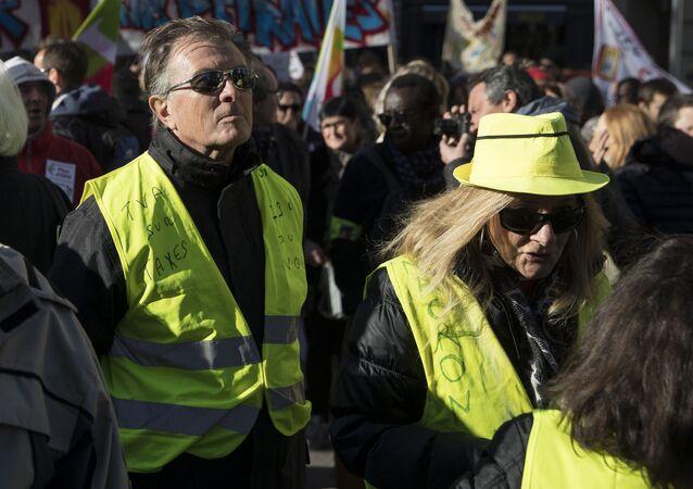 Una protesta de 'chalecos amarillos' en París