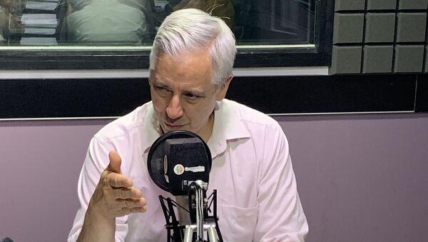 Álvaro García Linera en los estudios,  ex vicepresidente de Bolivia (archivo) - Sputnik Mundo