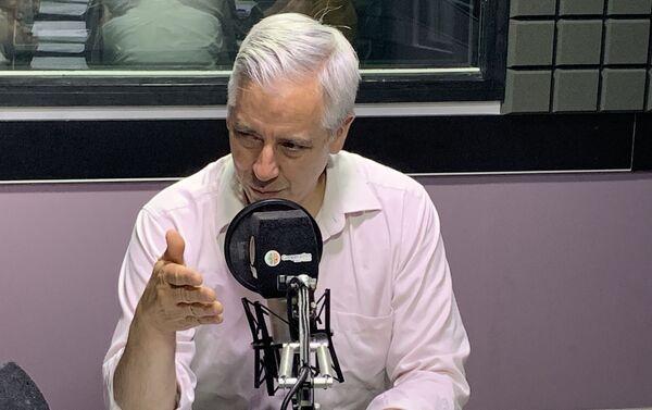 Álvaro García Linera en los estudios - Sputnik Mundo