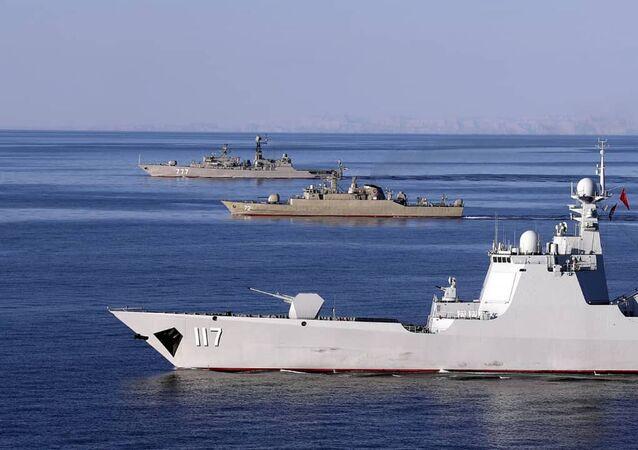 Maniobras militares conjuntas de Irán, Rusia y China en el océano Índico y el golfo de Omán