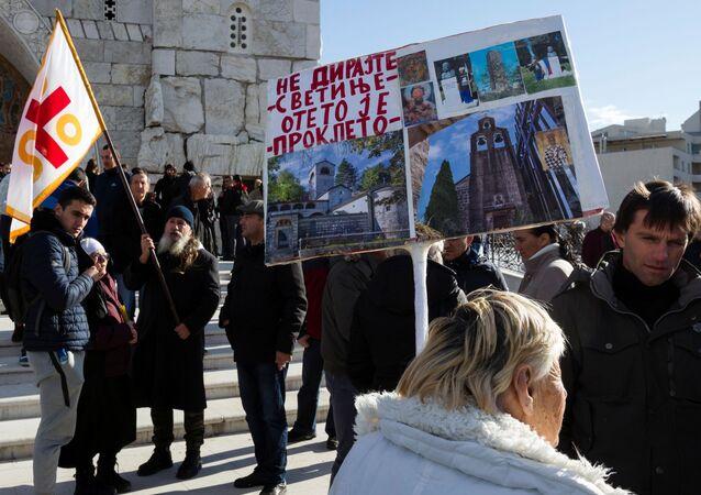 Protestas en Montenegro contra una ley religiosa