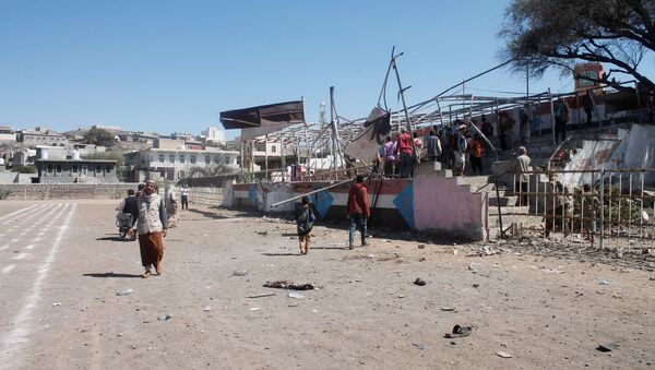 El lugar de la explosión en Yemen - Sputnik Mundo