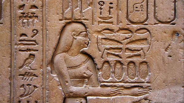 Jeroglíficos egipcios, referencial - Sputnik Mundo