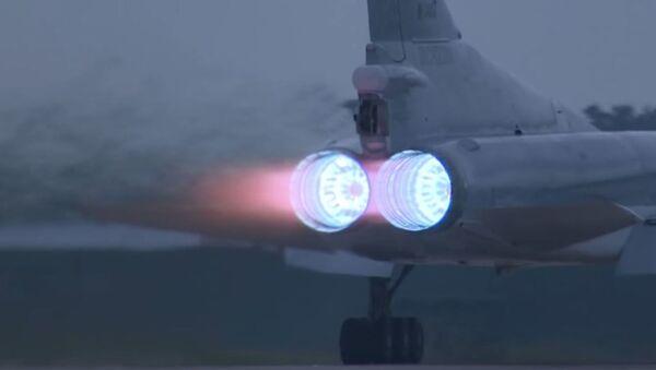 Motores del Tu-22M3 al despegar - Sputnik Mundo