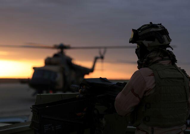 Un militar de EEUU en Irak (archivo)
