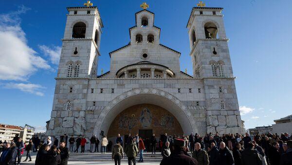 La catedral de la ciudad de Podgorica, Montenegro  - Sputnik Mundo