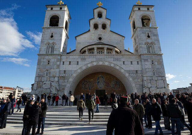 La catedral de la ciudad de Podgorica, Montenegro
