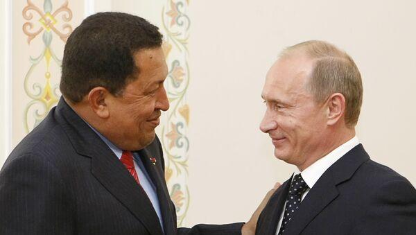 Hugo Chávez, expresidente de Venezuela, y Vladímir Putin, presidente de Rusia (archivo) - Sputnik Mundo