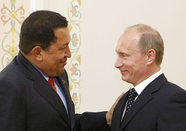Hugo Chávez, expresidente de Venezuela, y Vladímir Putin, presidente de Rusia (archivo)