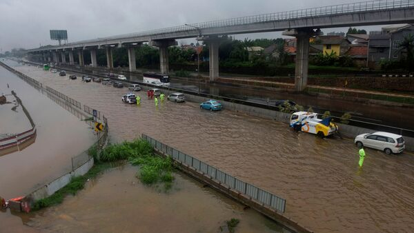 Inundación en Indonesia - Sputnik Mundo