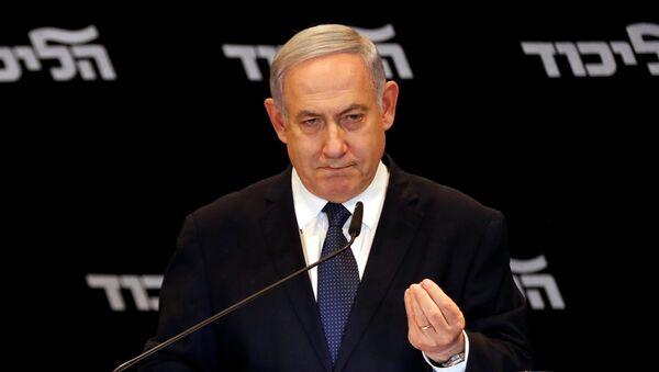 El primer ministro israelí en funciones, Benjamín Netanyahu - Sputnik Mundo