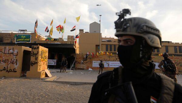 Las fuerzas de seguridad de Irak frente la embajada de Estados Unidos - Sputnik Mundo
