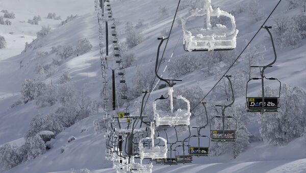Pista de esquí del Monte Hermón, en el territorio sirio ocupado de los Altos del Golán - Sputnik Mundo