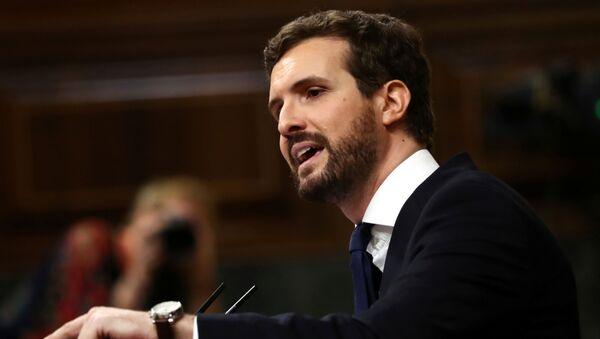 Pablo Casado, el líder del conservador Partido Popular - Sputnik Mundo