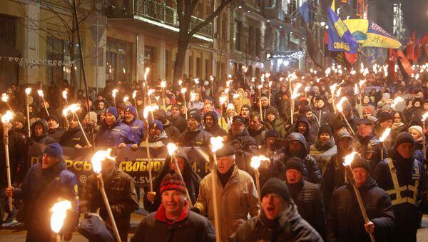 Marcha nacionalista en Kiev - Sputnik Mundo