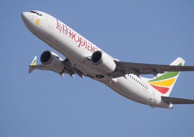 Un Boeing 737 MAX de Ethiopian Airlines
